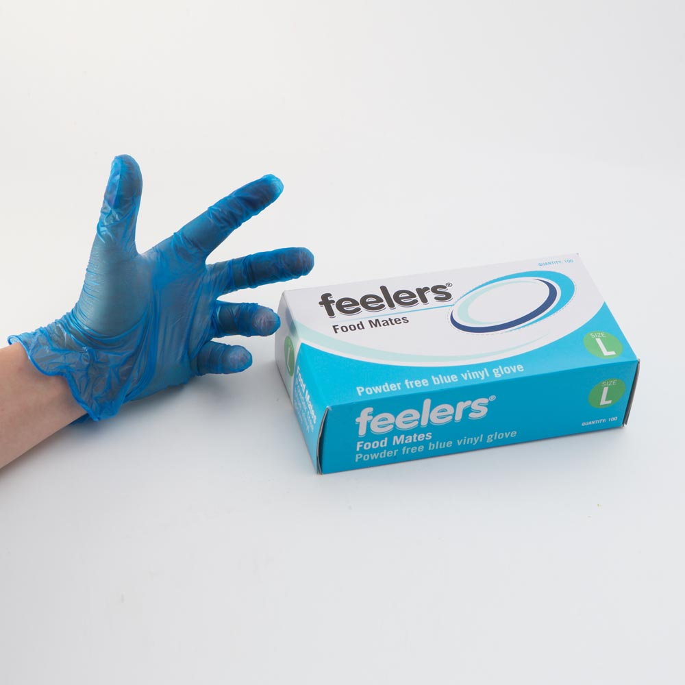 Vinyl Gloves (Blue) (Large) (100)