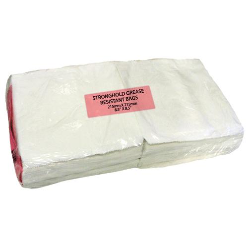 Plain 8.5x8.5 Greeseproof Bag (1000)