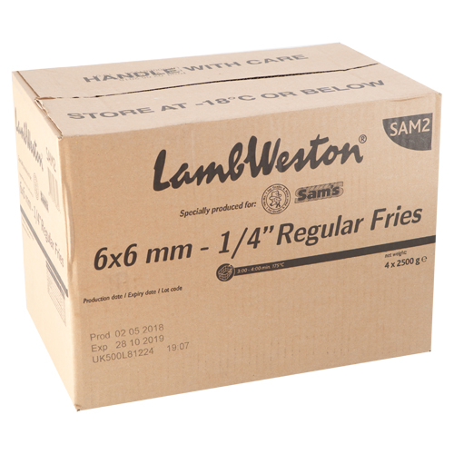 Sam's 6x6 (Lamb Weston) (10kg)